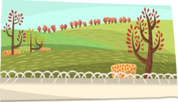 Baby Vectors - Mega Bundle - Park Background