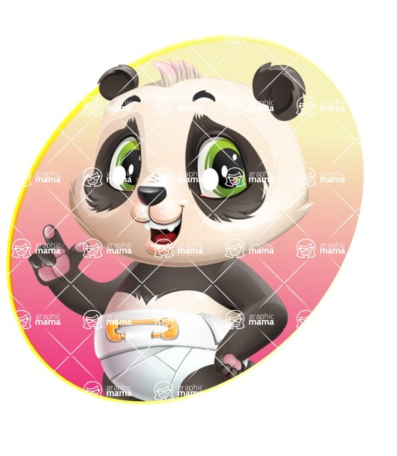 Baby Panda Vector Cartoon Character - Shape 1