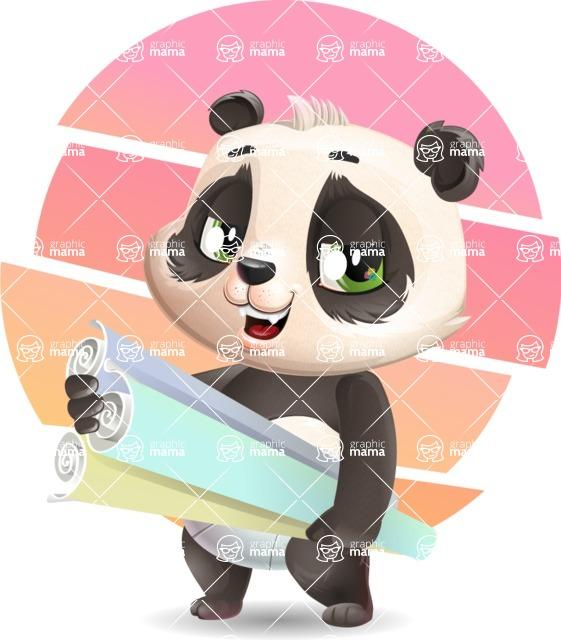 Baby Panda Vector Cartoon Character - Shape 10