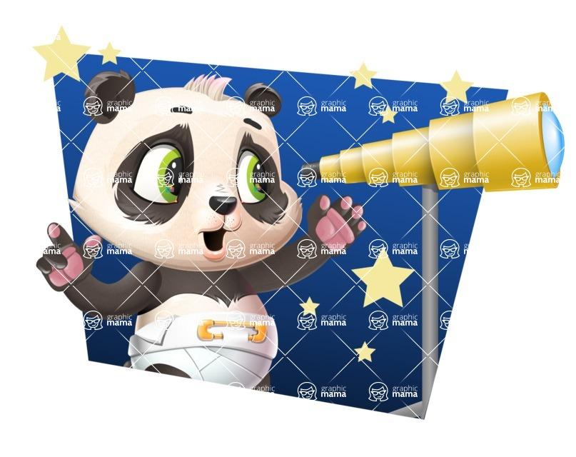 Baby Panda Vector Cartoon Character - Shape 4