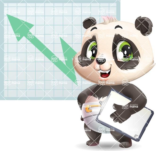 Baby Panda Vector Cartoon Character - Shape 6