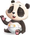 Baby Panda Vector Cartoon Character - Feeling Bored