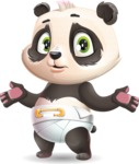 Baby Panda Vector Cartoon Character - Feeling Confused