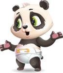 Baby Panda Vector Cartoon Character - Feeling Lost