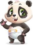 Baby Panda Vector Cartoon Character - Making a point