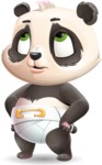 Baby Panda Vector Cartoon Character - Rolling Eyes