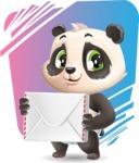 Baby Panda Vector Cartoon Character - Shape 11
