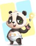 Baby Panda Vector Cartoon Character - Shape 12