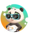 Baby Panda Vector Cartoon Character - Shape 2