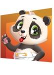 Baby Panda Vector Cartoon Character - Shape 3