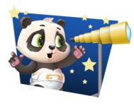 Baby Panda Vector Cartoon Character - Shape 4