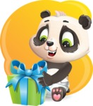 Baby Panda Vector Cartoon Character - Shape 5