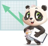 Baby Panda Vector Cartoon Character - Shape 6