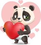 Baby Panda Vector Cartoon Character - Shape 7