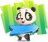 Baby Panda Vector Cartoon Character - Shape 8