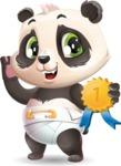 Baby Panda Vector Cartoon Character - Winning prize