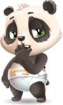 Baby Panda Vector Cartoon Character - Yawning