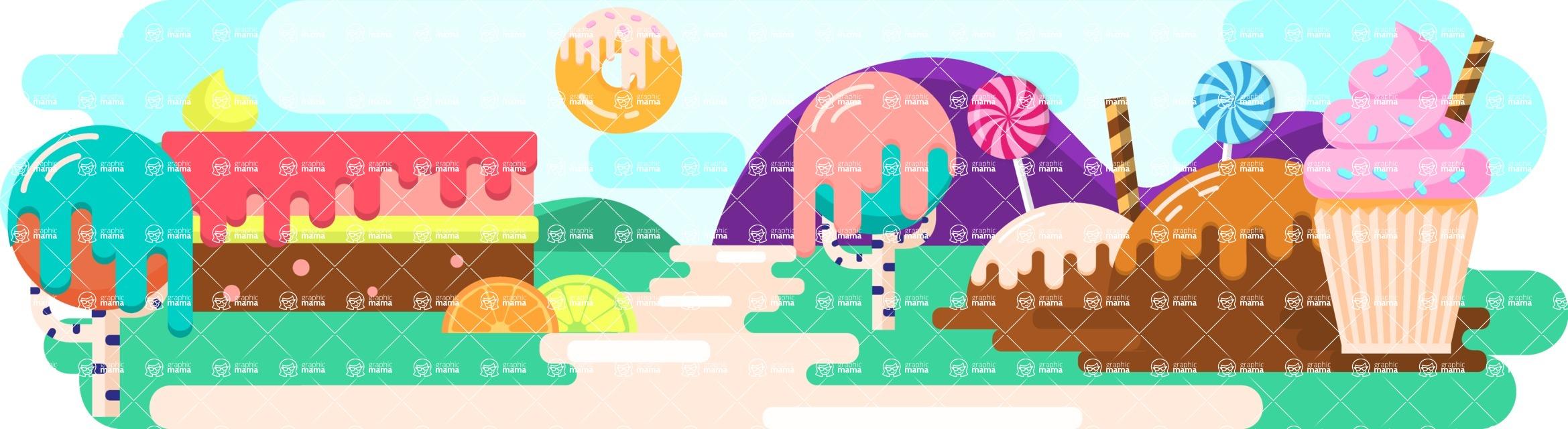 Vector Backgrounds - Mega Bundle - Candy World 1