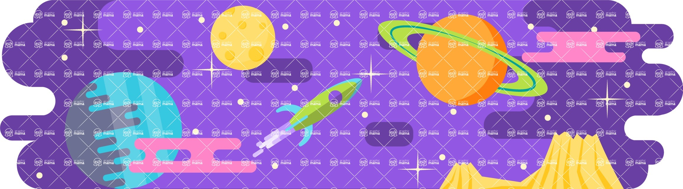 Vector Backgrounds - Mega Bundle - Space Landscape
