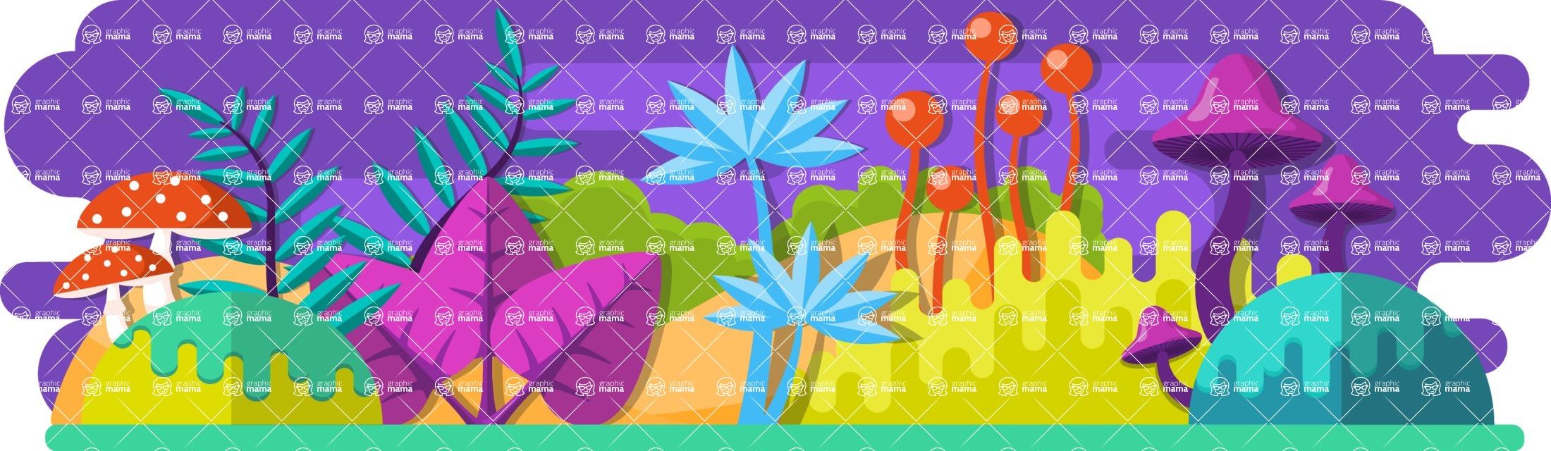 Vector Backgrounds - Mega Bundle - Fantasy Plant World