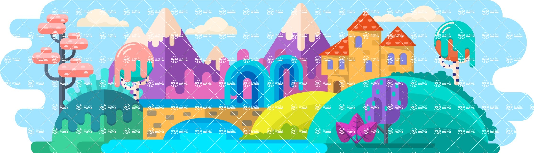 Vector Backgrounds - Mega Bundle - Fairy Tale World