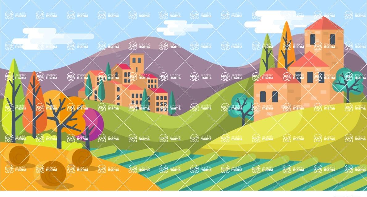 Vector Backgrounds - Mega Bundle - Landscape 18