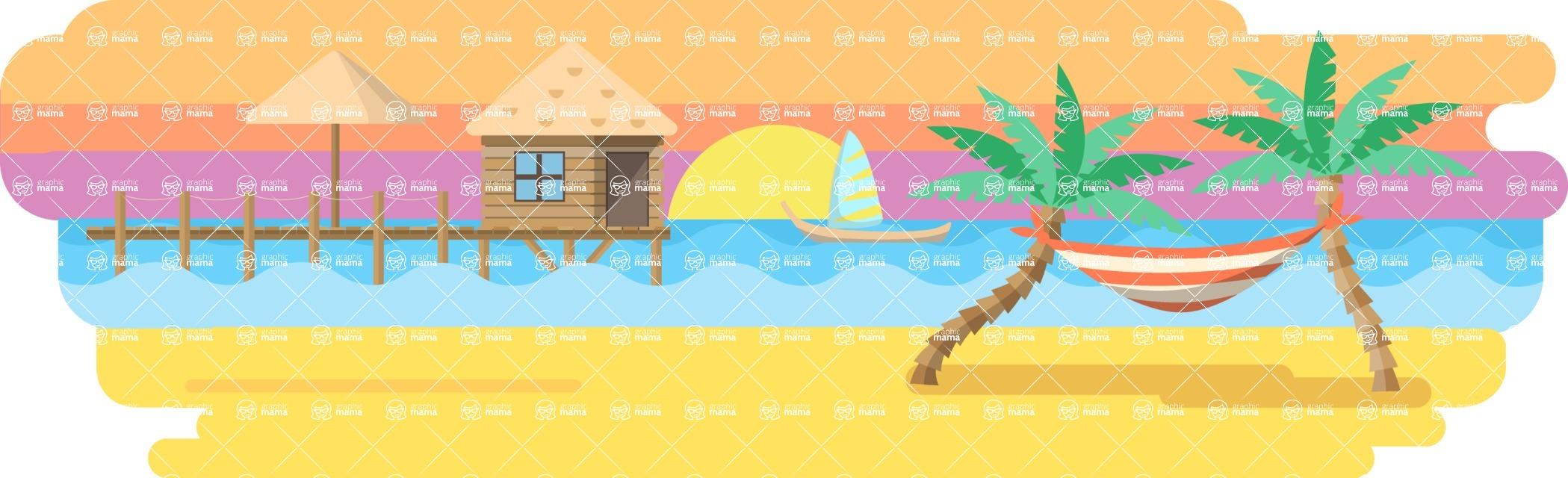 Vector Backgrounds - Mega Bundle - Tropical Island Wide