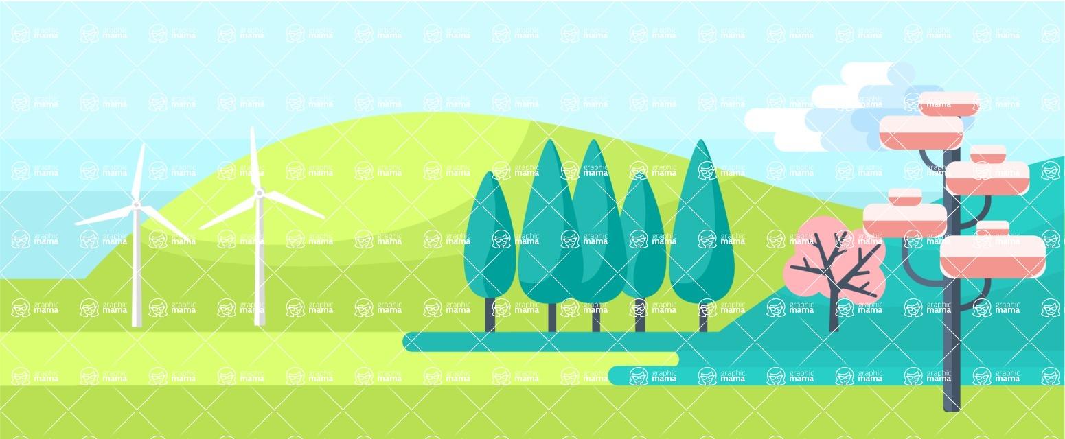 Vector Backgrounds - Mega Bundle - Spring Part 1