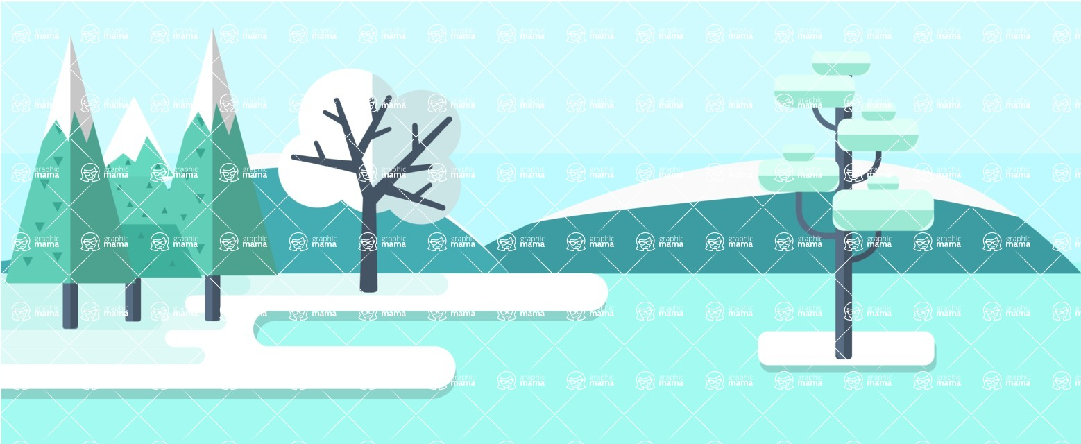 Vector Backgrounds - Mega Bundle - Winter Part 4