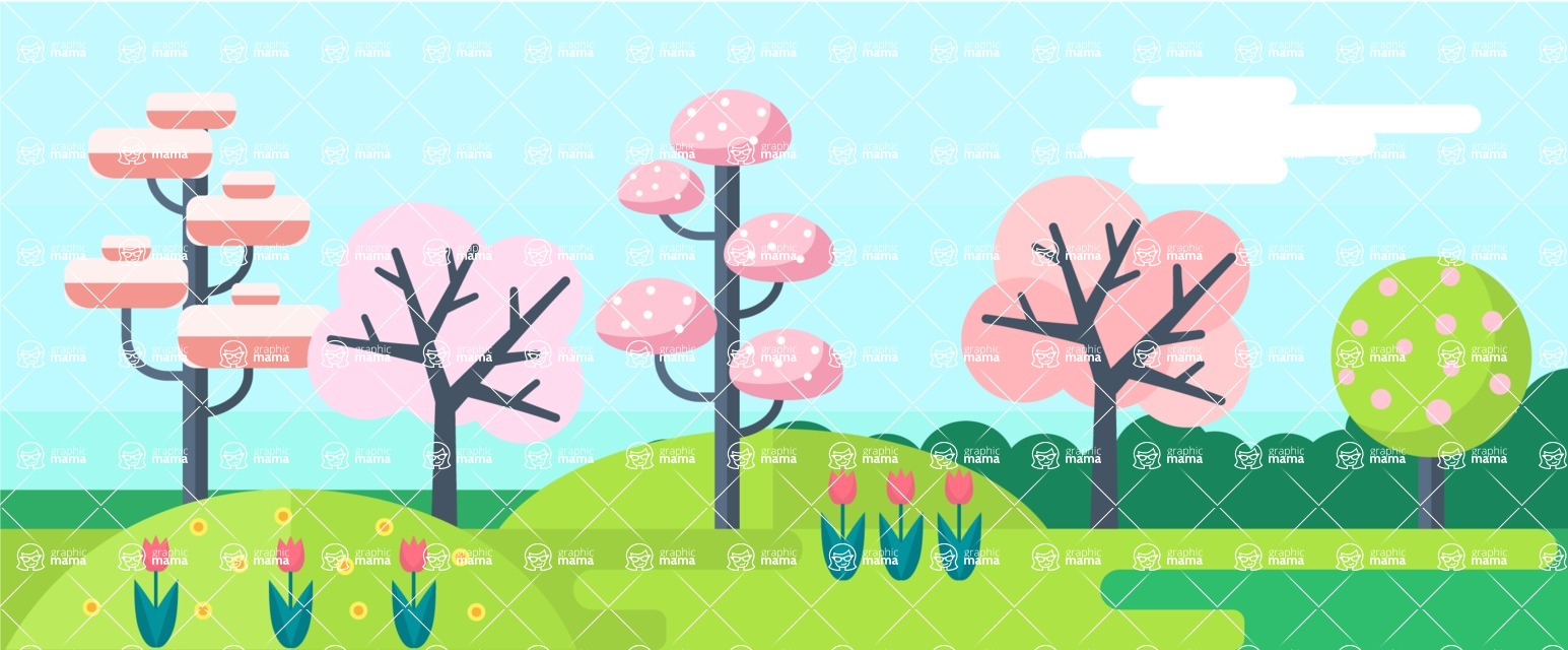 Vector Backgrounds - Mega Bundle - Spring - All Seasons Part 1