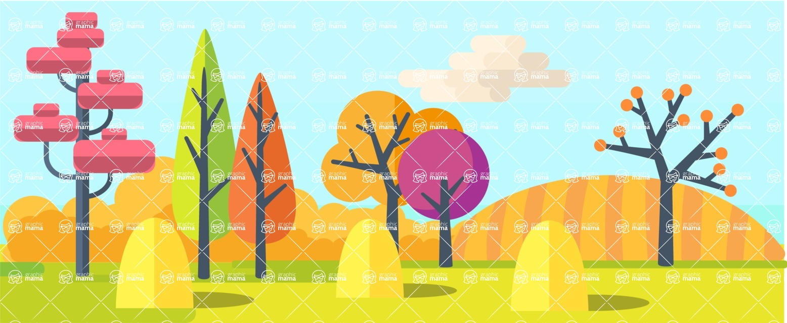 Vector Backgrounds - Mega Bundle - Autumn - All Seasons Part 3