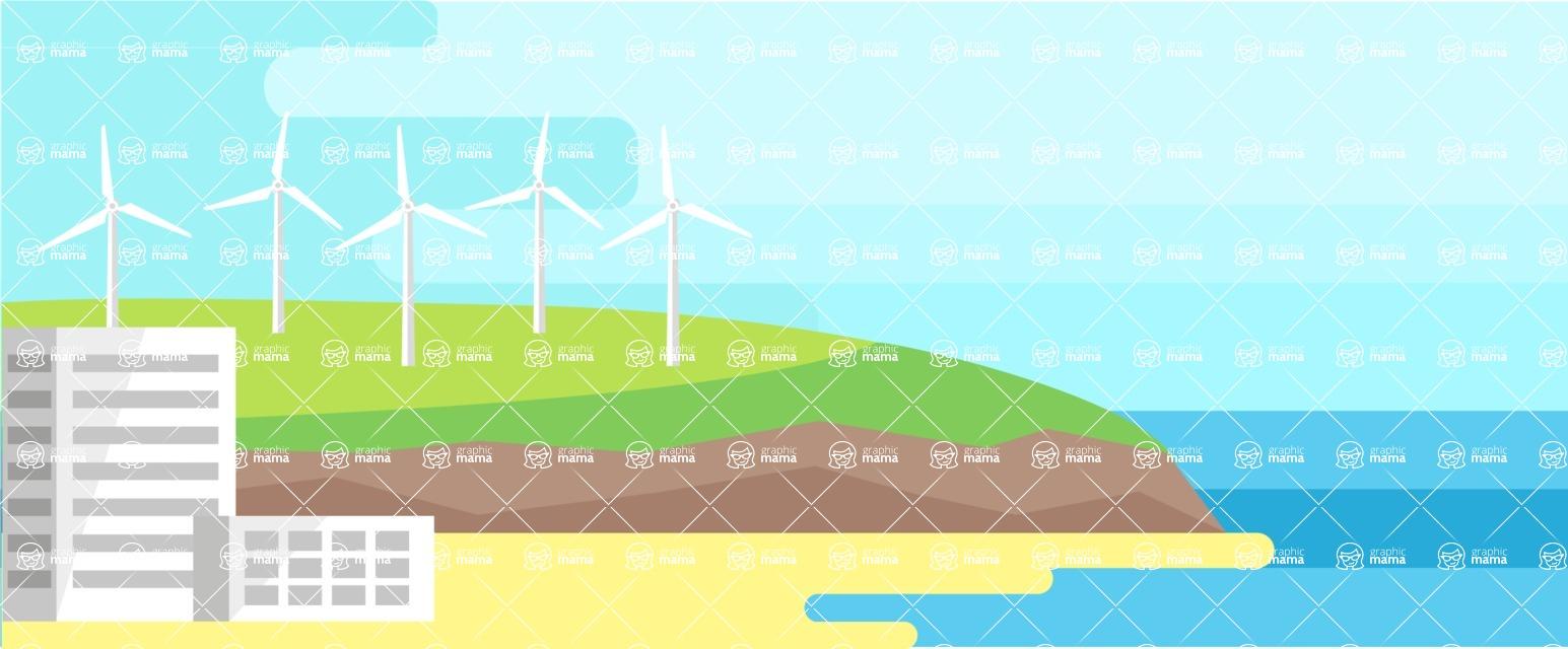 Vector Backgrounds - Mega Bundle - Sea Landscape Part 1