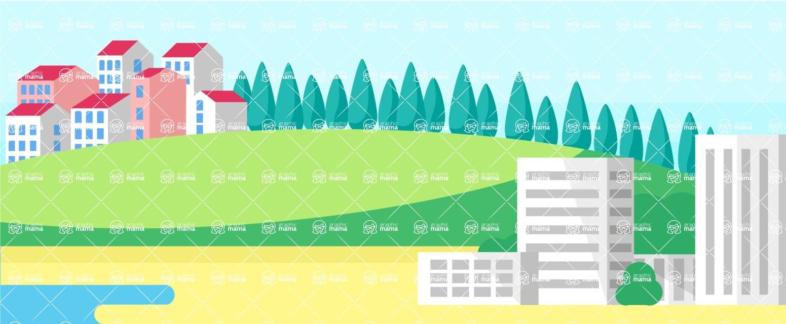 Vector Backgrounds - Mega Bundle - Sea Landscape Part 4