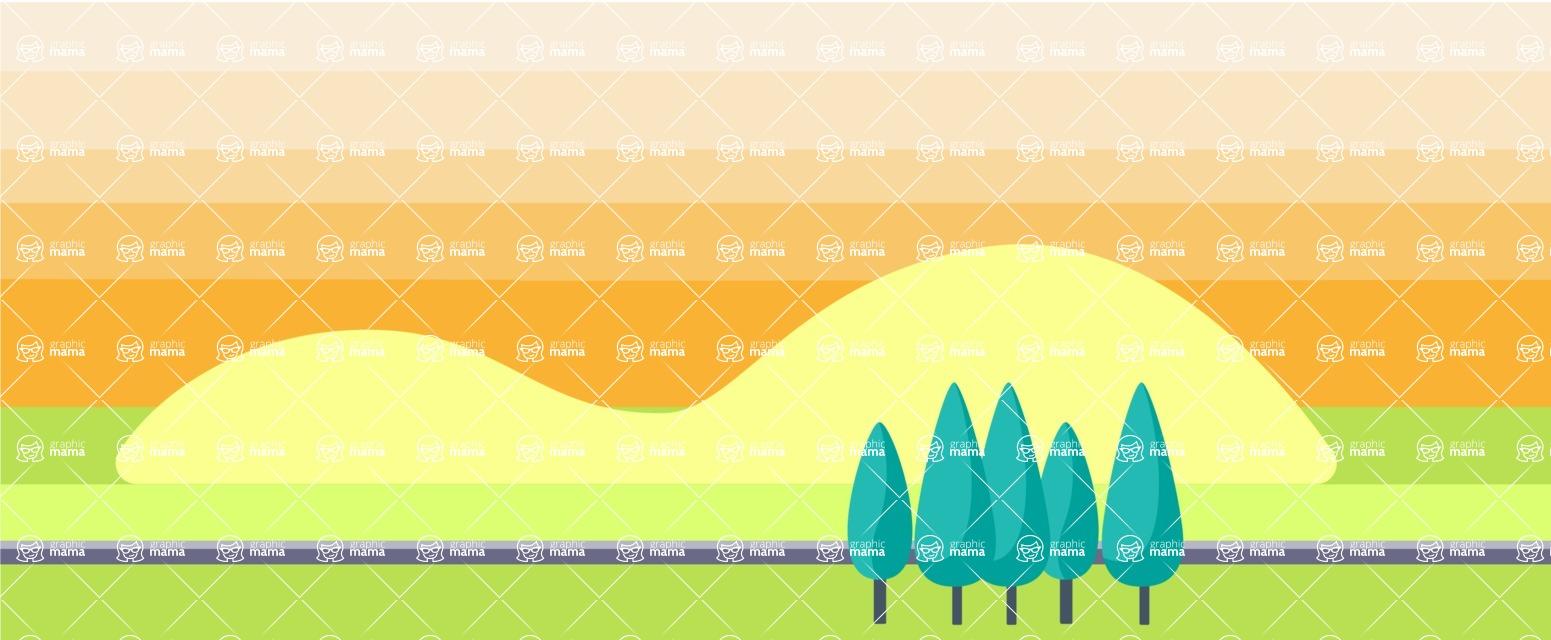 Vector Backgrounds - Mega Bundle - Industrial Landscape Part 4