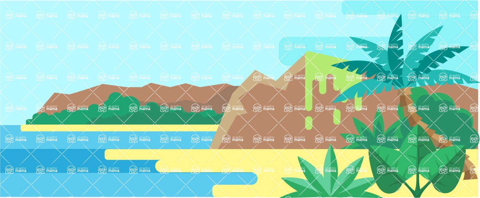 Vector Backgrounds - Mega Bundle - Island Resort Landscape Part 4