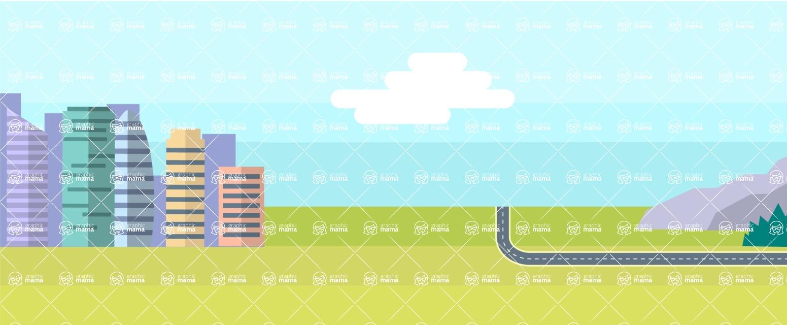 Vector Backgrounds - Mega Bundle - Country Area Part 2