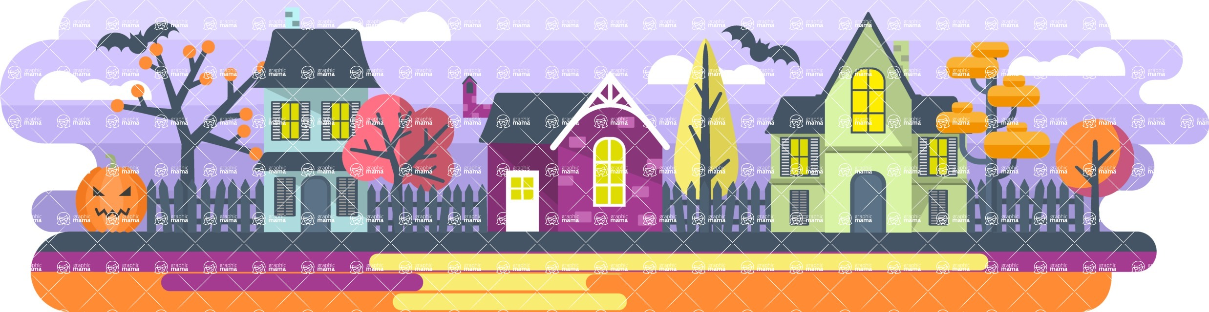 Vector Backgrounds - Mega Bundle - Halloween Background
