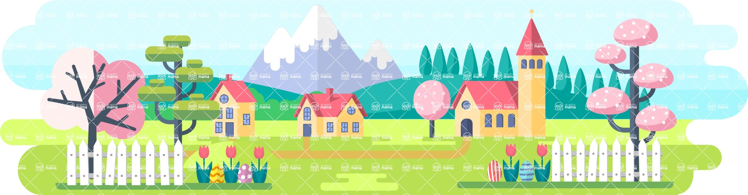 Vector Backgrounds - Mega Bundle - Easter Background