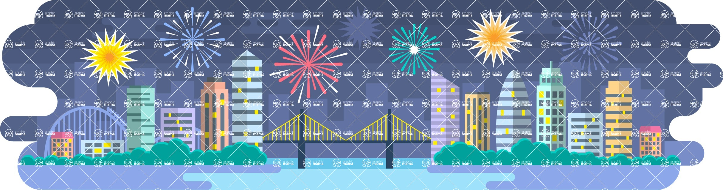 Vector Backgrounds - Mega Bundle - New Year Background