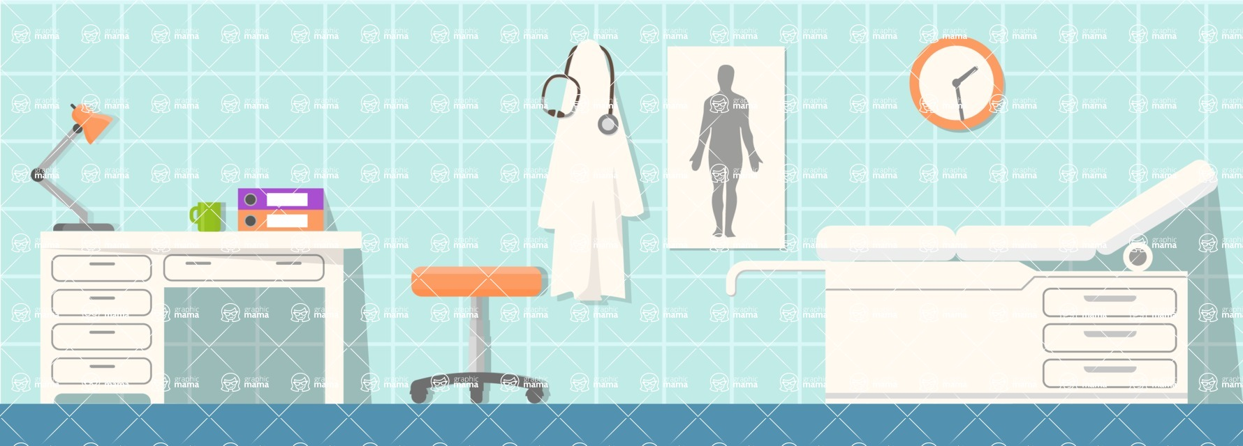 Vector Backgrounds - Mega Bundle - Doctor's Office