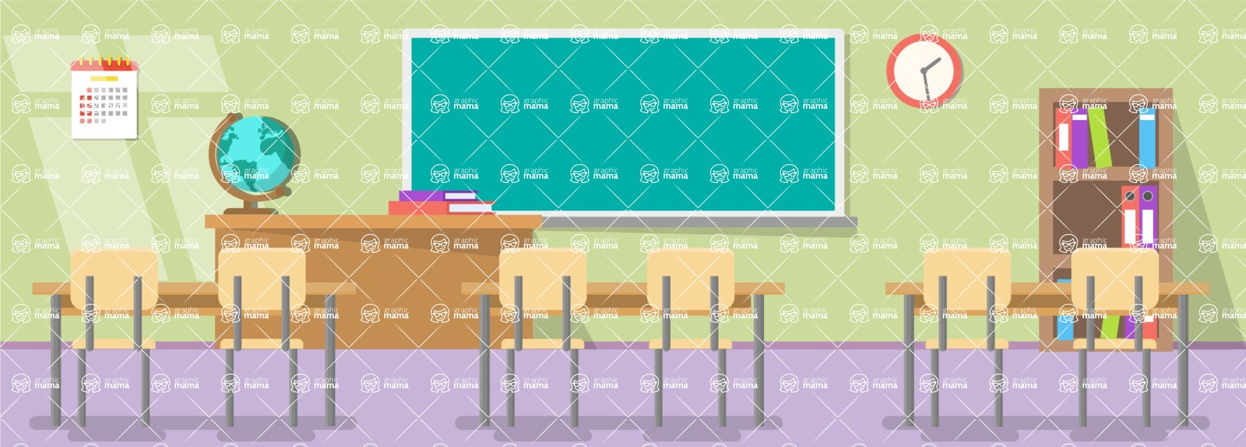 Vector Backgrounds - Mega Bundle - Classroom