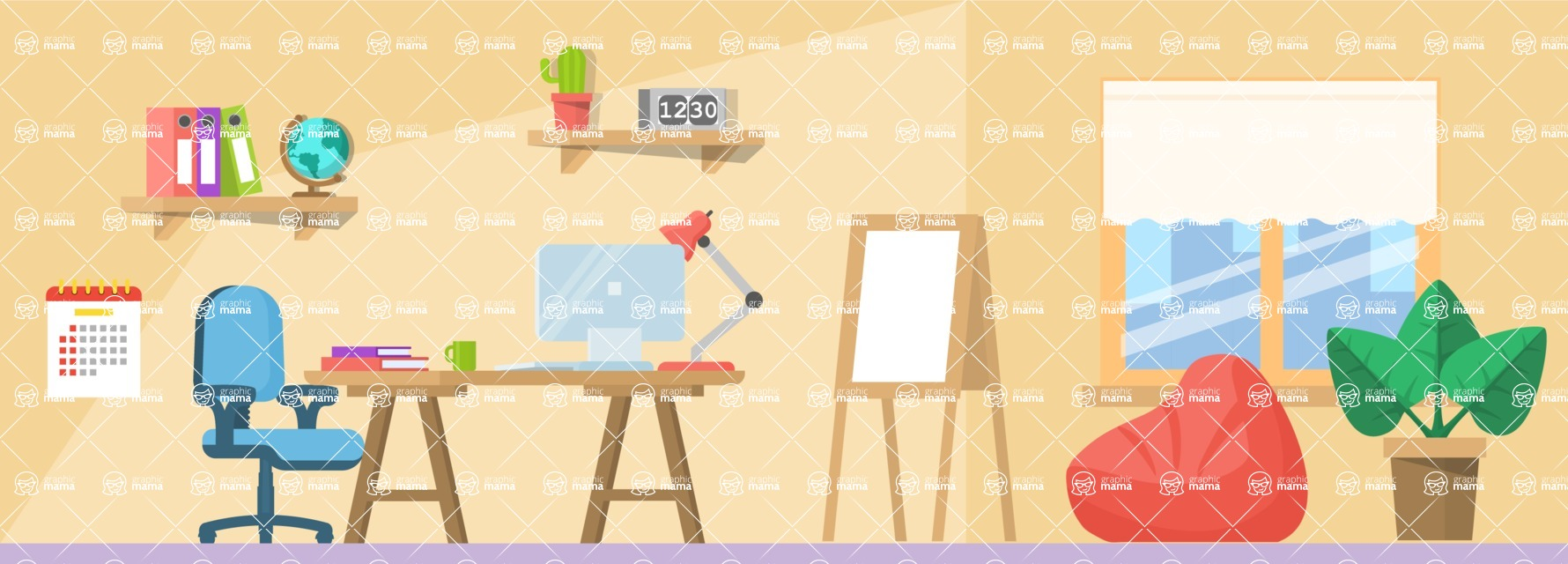 Vector Backgrounds - Mega Bundle - Office