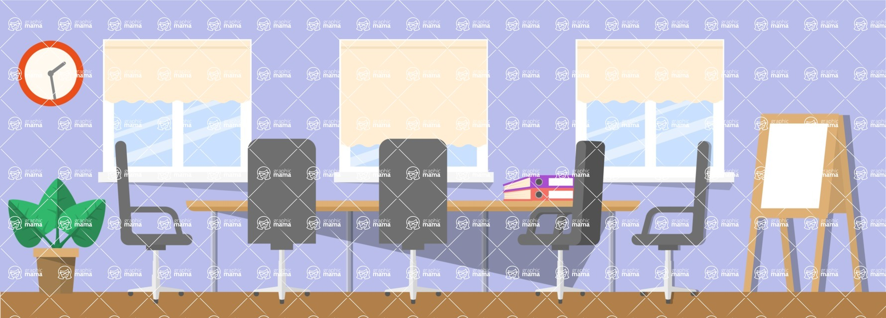 Vector Backgrounds - Mega Bundle - Conference Room