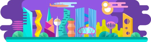 Vector Backgrounds - Mega Bundle - Future City