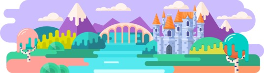 Vector Backgrounds - Mega Bundle - Fairy Tale Castle 1