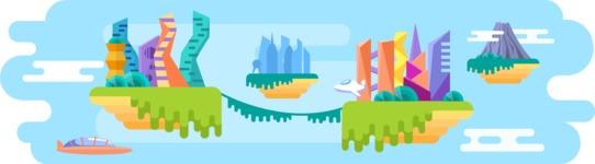 Vector Backgrounds - Mega Bundle - Sky City