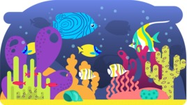 Vector Backgrounds - Mega Bundle - Colorful Under Sea Vector Background