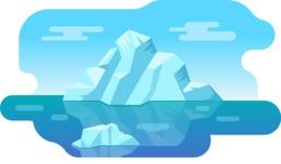 Vector Backgrounds - Mega Bundle - Colorful Glacier Vector Background
