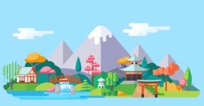 Vector Backgrounds - Mega Bundle - Landscape 14