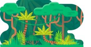 Vector Backgrounds - Mega Bundle - Into the Woods Vector Background Illustration